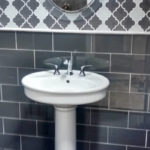 Small Bathroom Tile and Sink