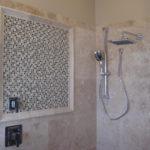 Travertine Shower Walls installation